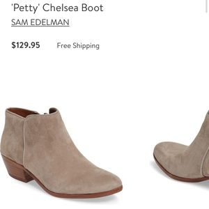Sam Edelman Petty heeled bootie. Leather upper.